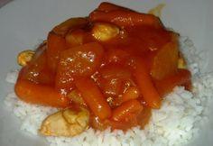 Édes-savanyú csirke rizzsel Virától