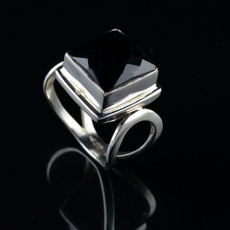 925 Solid Sterling Silver Black Onyx Gemstone Handmade Mens Ring Size 8 US R102 #Handmade #Cluster #Party