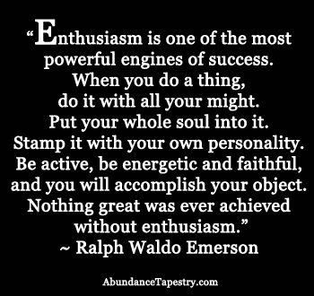 Enthusiasm- So for me :)