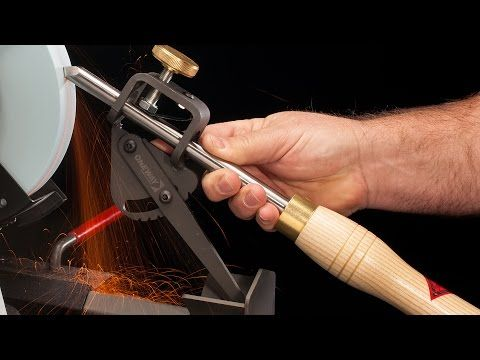 How To Sharpen Woodturning Tools On A Bench Grinder Video