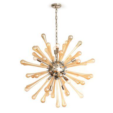 Luxury Mid Century Modern Satellite Chandelier Edison Bulbs u glass accents