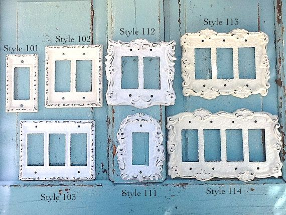 Metal Wall Decor Light Switch Cover Creamy Off by CamillaCotton, $10.50