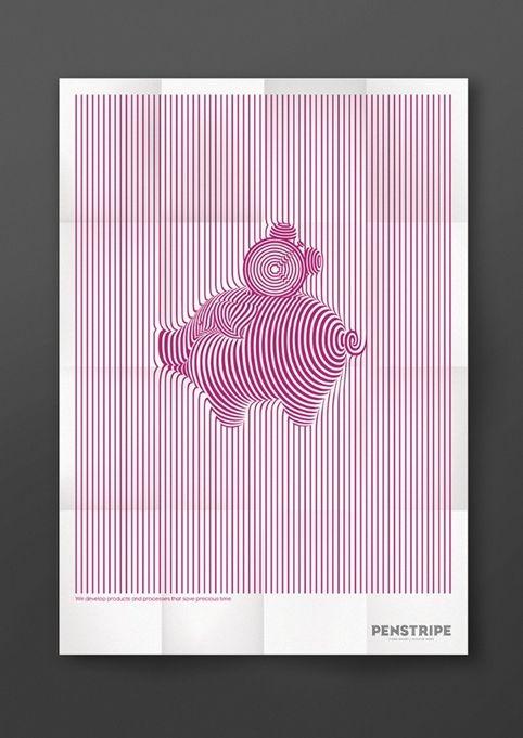 Taxi Studio – Penstripe, piggy bank poster
