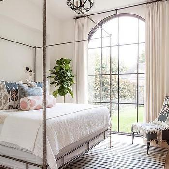 Bedroom Palladian Window with Oly Studio Marco Bed