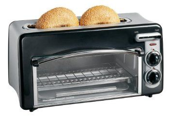 Amazon.com: Hamilton Beach 22708 Toastation 2-Slice Toaster and Mini Oven...this would be perfect for the RV