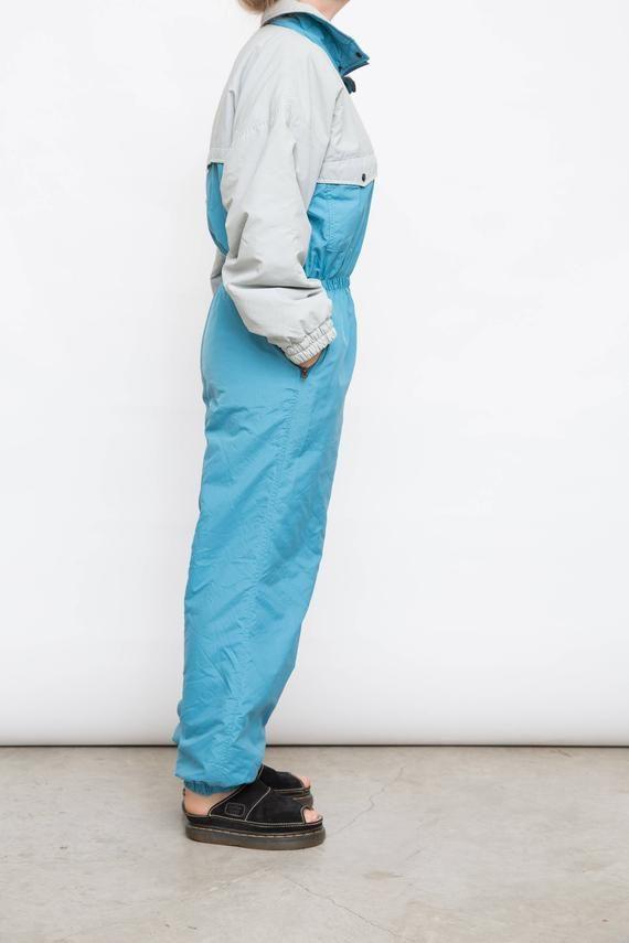 Winter Sports Vintage Ski Salopettes Snow Suit Trousers Snowboarding Dungarees Size Medium