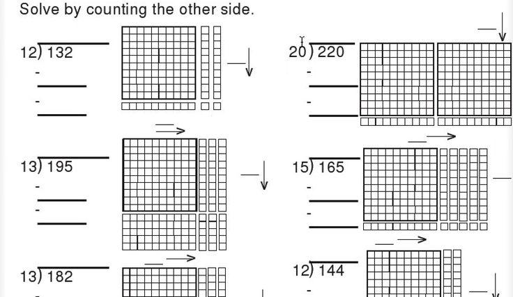 base ten block division worksheet math pinterest base ten blocks division and worksheets. Black Bedroom Furniture Sets. Home Design Ideas