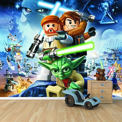Lego Star wars wallpaper mural childrens bedroom design wm276