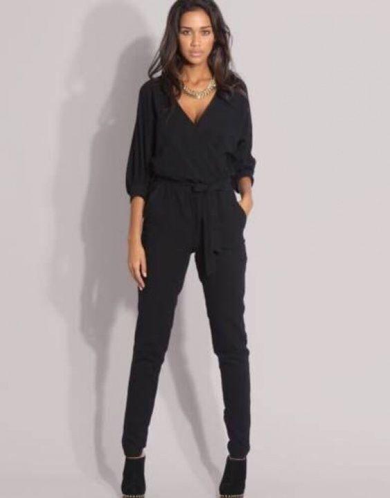 Вечерний женский комбинезон (143 фото): модный брючный комбинезон 2017, черный, с кружевом, бархатный, платье-комбинезон