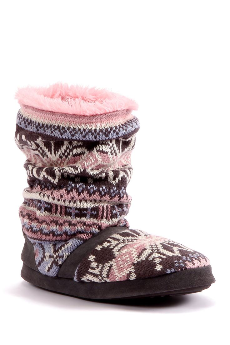 Take a look at this Pink & Gray Jenna Slipper Boot - Women on zulily today!