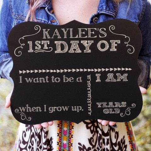 Chalkboard First Day of School (Personalized)