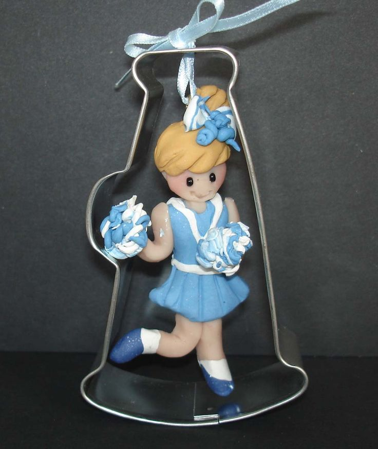 Cheerleader PomPon Megaphone Metal Cookie Cutter Polymer Clay Milestone Christmas Ornament Cake Topper Cheer Team Coach Uniform BullHorn by alongcameaspider1 on Etsy