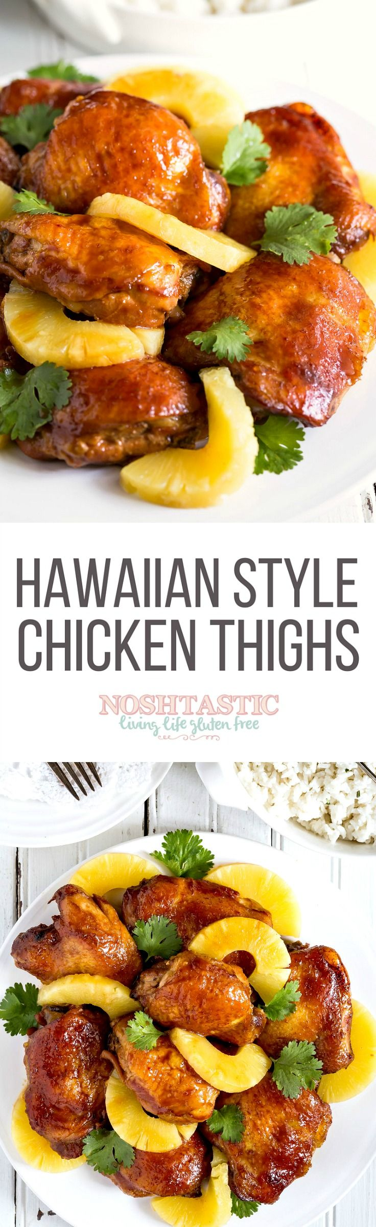 A simply gorgeous, sticky, tasty, Easy Gluten Free Hawaiian Chicken Thighs…