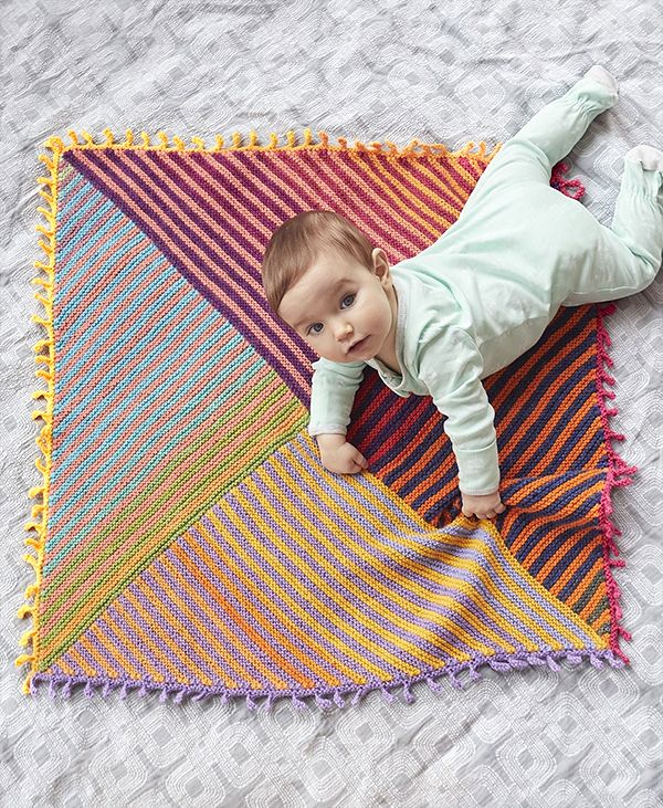 bd75f8468234 Free knitting pattern for Meadowland Baby Blanket - This reversible ...