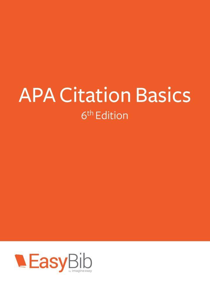 Download EasyBib's free APA Citation Series