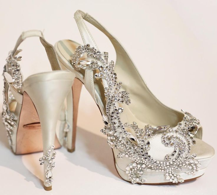1266 best Bridal Shoes images on Pinterest | Wedding tails shoes ...