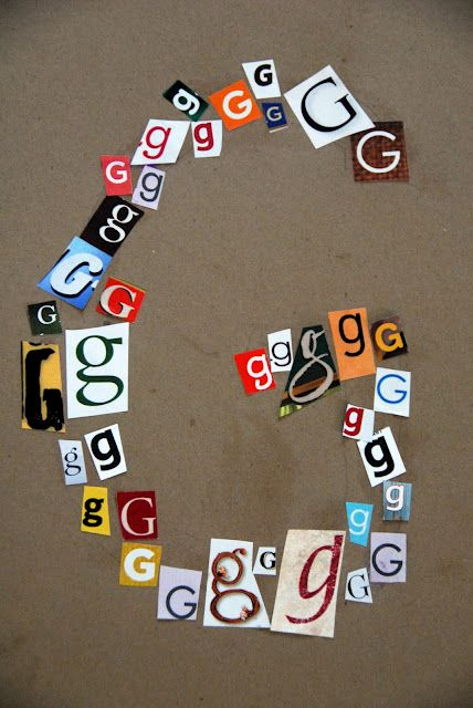 cute for any letter. Could be small group activity to search magazines for the capital and lowercase letter and glue in outline of the letter