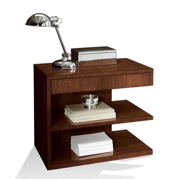 Modern hollywood night stand occasional tables for Modern bedside tables nightstands