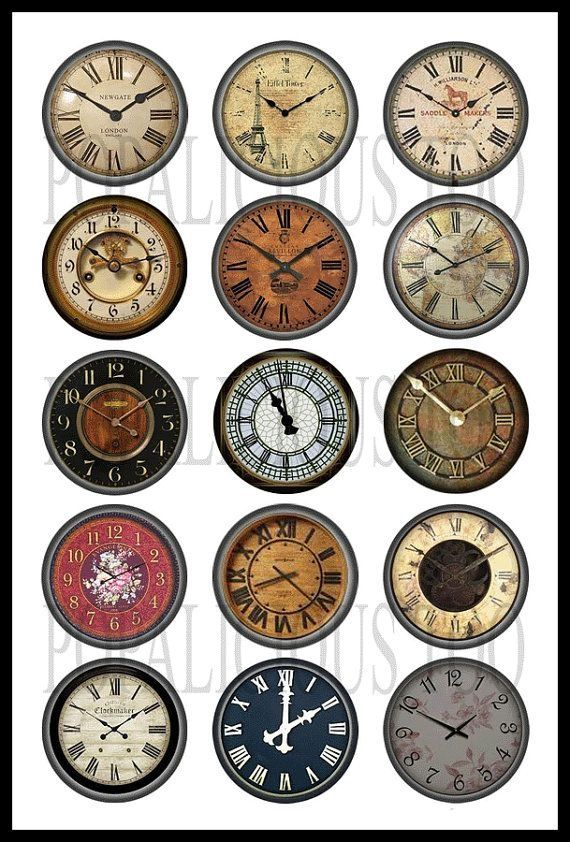 Steampunk clock faces for cards by harriet