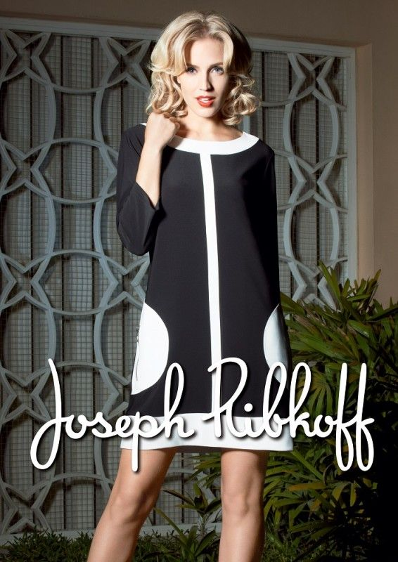 Joseph Ribkoff Dress | Black & White | Tunic | Spring 2014 Collection