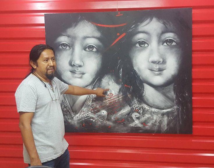 Miguel Angel. Pintor Casa Encuentros Panchimalco. #panchimalco #elsalvador #sansalvador #elsalvadorimpresionante #oilpaint #pinturas #artesplasticas #sivargram #elsalvadorgram