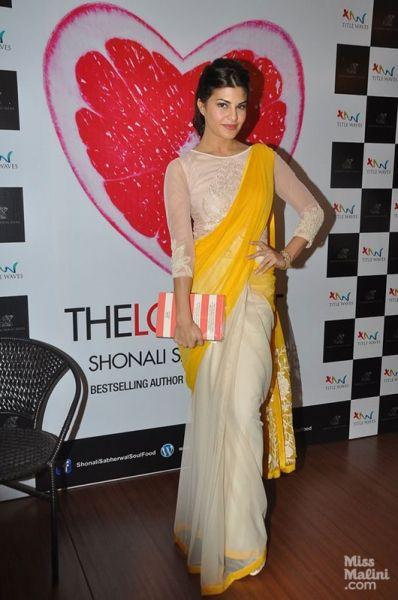 lovely saree on Jacqueline