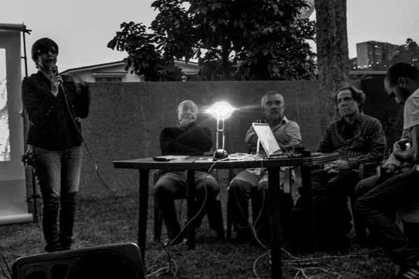 Tertulia a cargo de Paolo Gasparini, Vasco Szinetar, Esso Álvarez y Ricardo Jiménez sobre sus archivos fotográficos, en el marco de la exposición Archivo Fotográfico Félix Molina. Foto: Jorge Luis Santos. Caracas, 14/4/15.