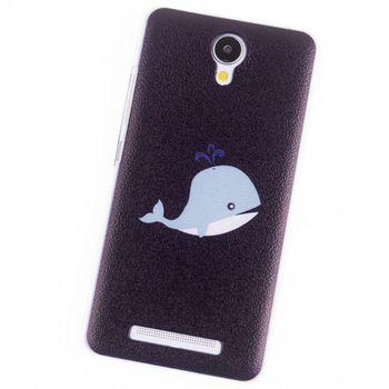 Casos de telefone para Xiaomi redmi nota 2 caso baleia azul acessórios de ouro tela tampa traseira do telefone móvel bolsas e malas da marca original