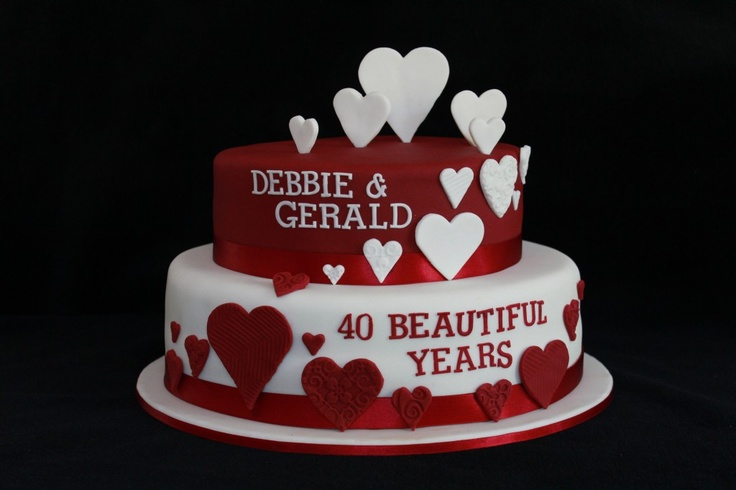 31 Wedding Anniversary Gift: 31 Best Images About Ruby Anniversary Cakes On Pinterest