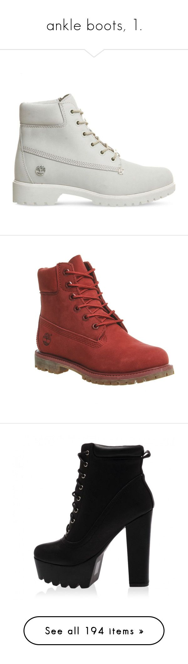 """""""ankle boots, 1."""" by theimanimo ❤ liked on Polyvore featuring shoes, boots, shoes - boots, water proof boots, genuine leather boots, rubber sole boots, waterproof boots, white leather shoes, ankle booties and ankle boots"""