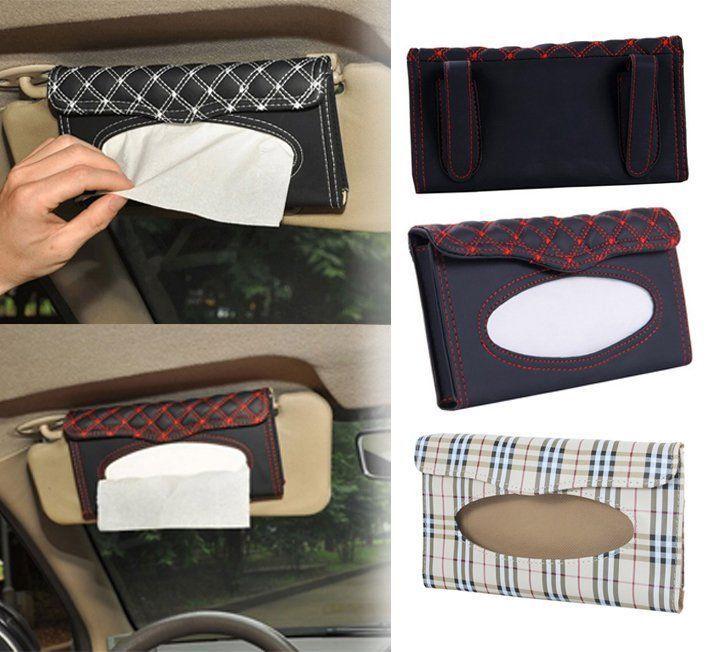 Car Sun Visor Tissue Box Case Covers Auto Accessories Holder Paper Napkin Clip | Home & Garden, Bath, Tissue Box Covers | eBay!