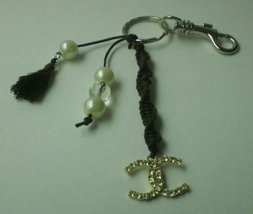porte clefs style Chanel
