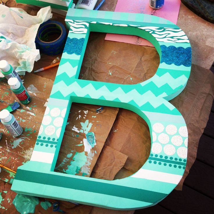 hand painted wooden letter b b painted woodenletter