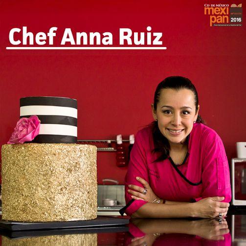 Anna Ruiz, excelente chef decoradora de pasteles, presente en #Mexipan2016  #Chef #Decoración #Pastel #birthdaycake #cake #Mexipan #México #WTC #Expo #Pan #Postre #dessert #pay #delicious