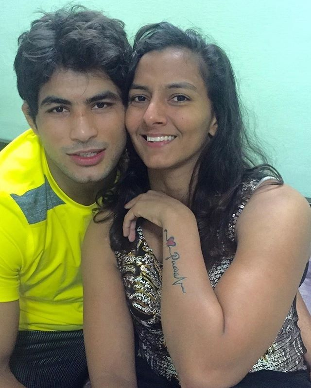 Geeta Phogat's Boy friend and Bicep regram @pawan_kumar86kg
