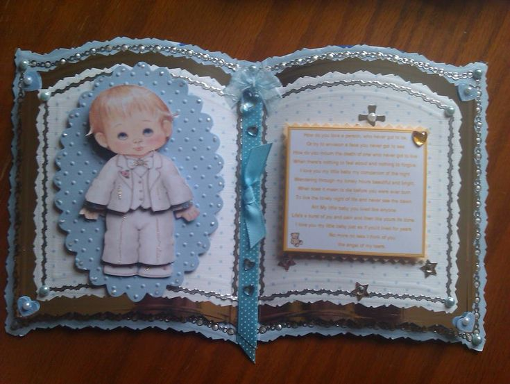 Handcrafted bookatrix keepsake card... Baby boy memorial  #BabyLoss #Memorial #Keepsake