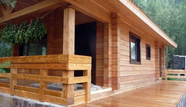 Дом и баня из клееного бруса_House and steam bath from glued timber