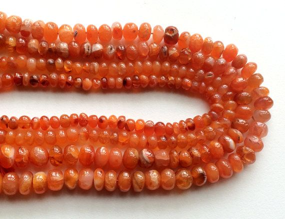WHOLESALE 5 Strands Carnelian Beads Natural by gemsforjewels