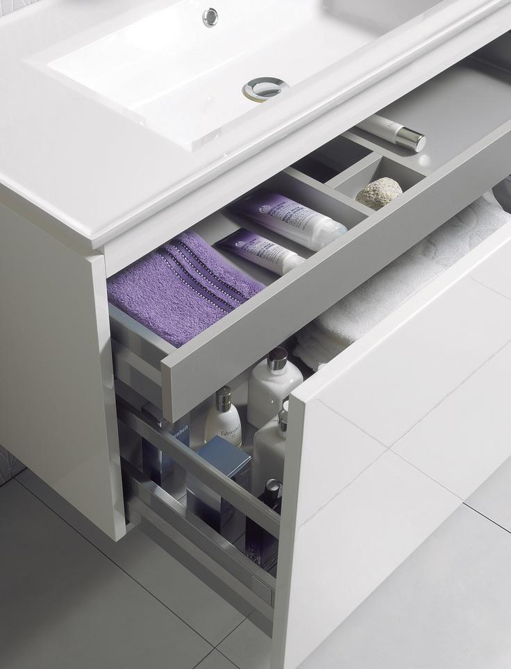 Linea White Gloss Bathroom Furniture Range from Crosswater http://www.bauhaus-bathrooms.co.uk/category/linea-white-gloss/