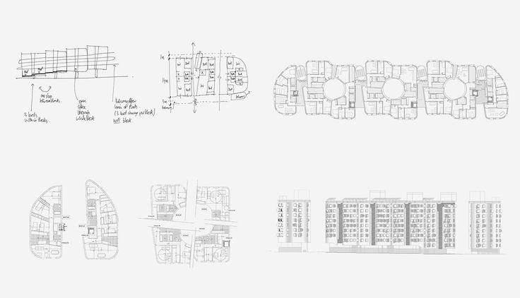 vallecas housing, drawings, CRAB