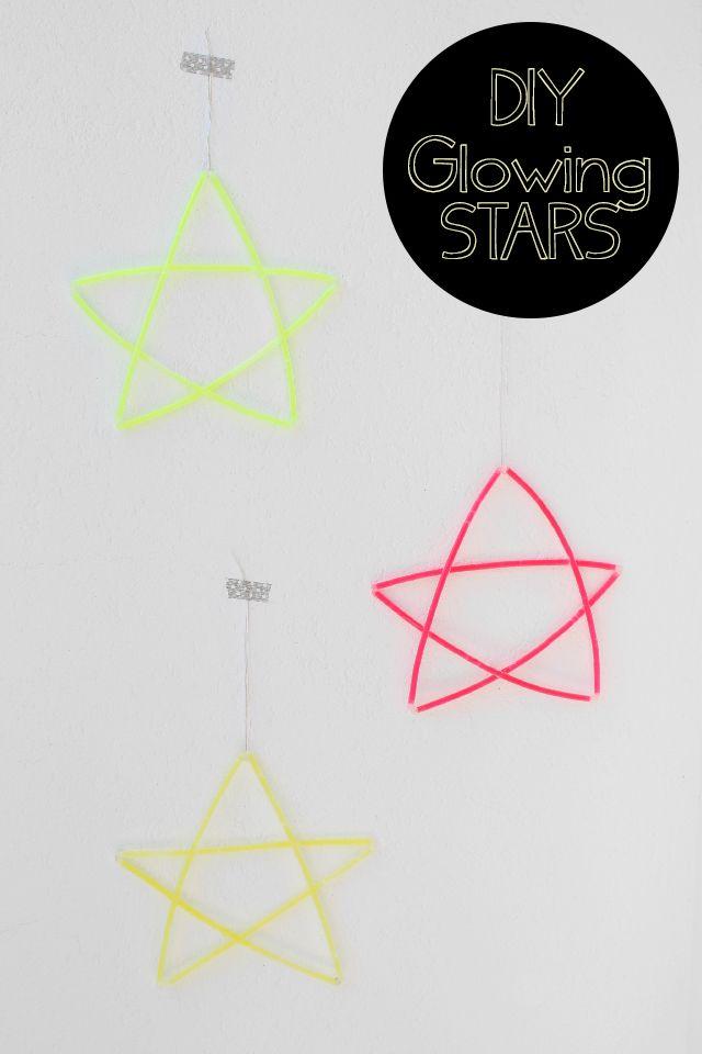 le idee della Vale: DIY Glowing Stars - Stelle Luminose - decorazioni da appendere - Tutorial