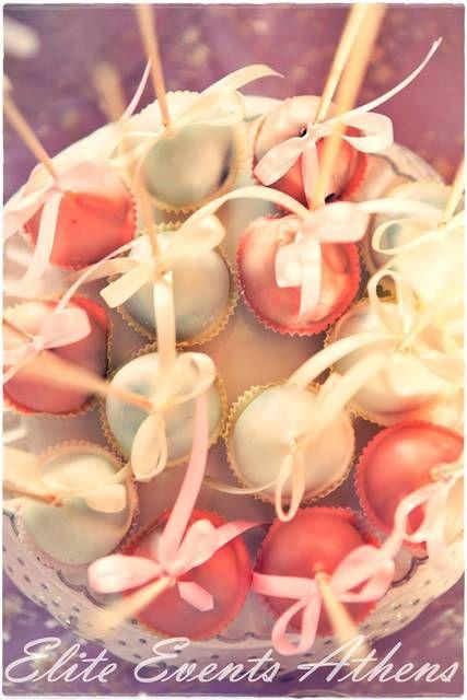 Cake pops at a Dressy Baptism #baptism #cakepops
