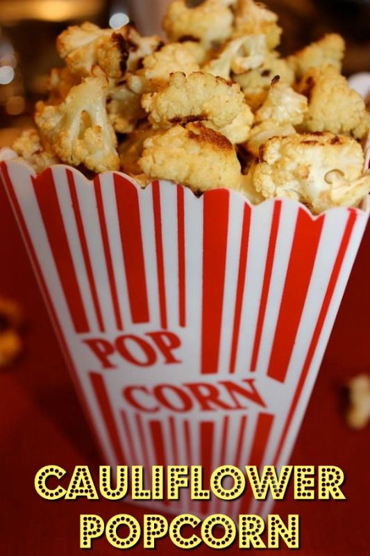 It looks like popcorn but it is actually cauliflower!People who do not…