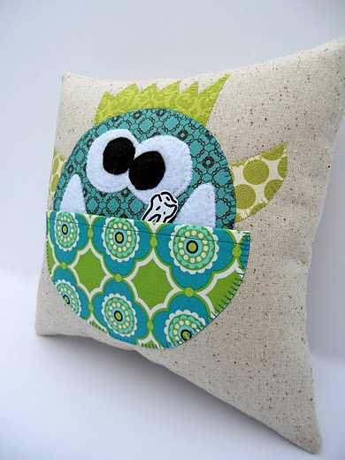 adorable monster tooth fairy pillow :)