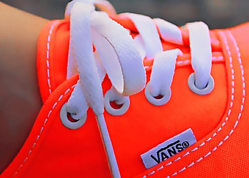 Vans. I want a BUNCH of these in all those bright colors!