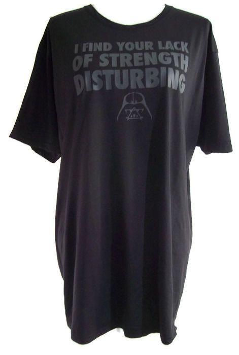 Star Wars Darth Vader I find your lack of strength disturbing Black Tee Shirt XL #StarWars #GraphicTee #DarthVader