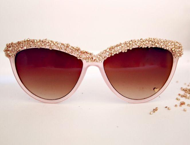 Embellished sunglasses:  Dark Glasses, Dollar Stores Crafts, Diy Embellishments, Fashion Ideas, Diy'S, Embellishments Sunglasses, Fall Fashion,  Shades, Crafts Blog