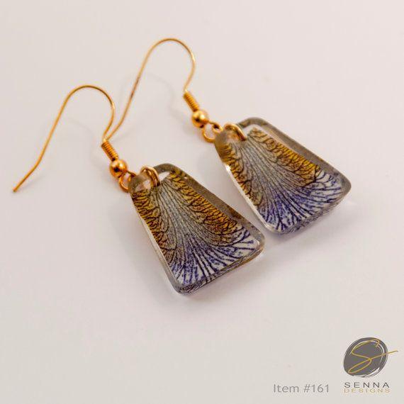 Resin Earrings: Pressed flower jewelry, Resin jewelry, dried flowers