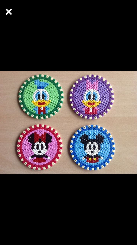 Posavasos hecho con hama beads