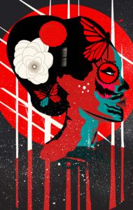 Geisha Muerta!Available as t-shirts, phone cases and art prints!!